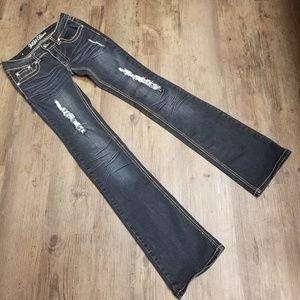ViVi Diva jeans stretchy embellished worn look